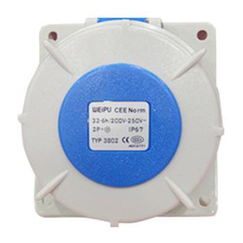 威浦 暗装斜式插座 IP67 32A 220V 3P TYP3802