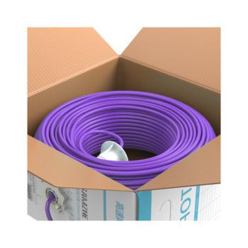 山泽(SAMZHE)超五类非屏蔽低烟无卤阻燃防鼠蚁网线 SZ-G5305 紫色 305米/箱