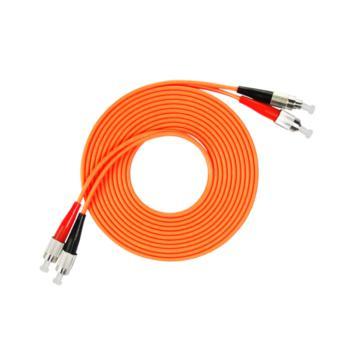汤湖 TH-M118-10 FC-FC多模双芯 φ3.0 电信级光纤跳线 10米 橙色