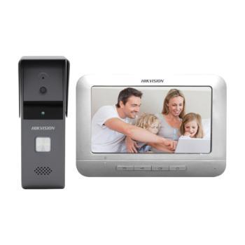 海康威视 DS-KIS203 小门童可视对讲套装 别墅套装门铃 室外防水