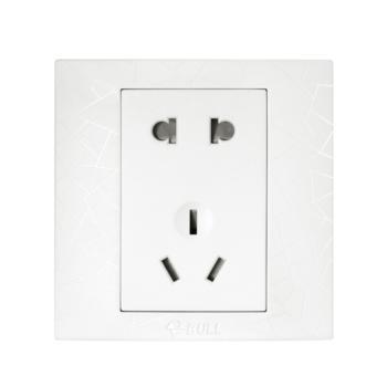 公牛(BULL) 插座 五孔插座5孔二三插86型墙壁电源面板纹理白 G01Z223