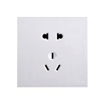 西蒙(SIMON) 五孔插座(白色) 721084
