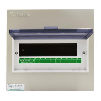 天正电气(TENGEN)暗装新型室内强电箱 12回路 06060071574 配电箱 PZ30-12