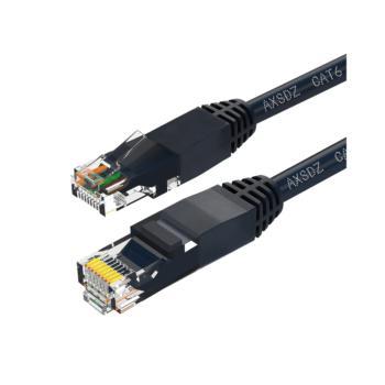 安讯仕(AXS)六类非屏蔽UTP网络跳线圆线 30米 黑色