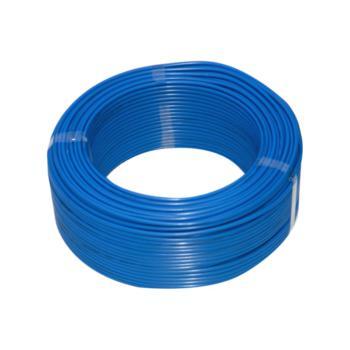 上上  BVR25 单芯铜软电线 蓝色 100米/卷 定制