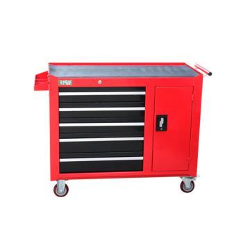 老A(LAOA)重型五层一门无挂板工具柜 红色 017130094 LA115101