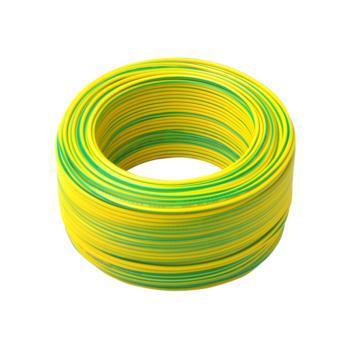 上上  BV16 单芯无氧铜布电线 黄绿色 100米/卷 定制