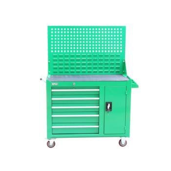 老A(LAOA)重型五层一门带挂板工具柜 绿色 017130097 LA115202