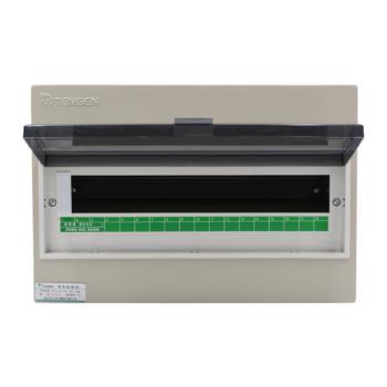 天正电气(TENGEN)明装新型室内强电箱 18回路 06060071588 配电箱 PZ30-18