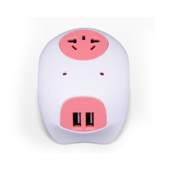 正泰(CHINT)三联二三极(1.5m)带USB招财猪排插 NEA3-0031U(1.5m)