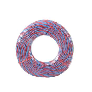 德力西(DELIXI) RVS2*0.5 两芯对绞软电线 红蓝 100/卷定制