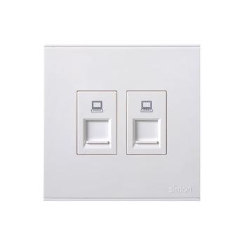 西蒙电气(SIMON)二位信息插座(白色) 725228