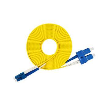 汤湖 TH-D114-5 LC-SC单模双芯 φ2.0 电信级光纤跳线 5米 黄色
