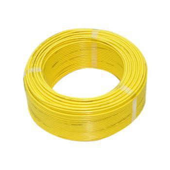上上  BV4 单芯无氧铜布电线 黄色 100米/卷 定制
