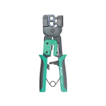 宝工(ProsKit)6/8P铁柄网络棘轮压接钳进口双口网线钳 CP-376ER