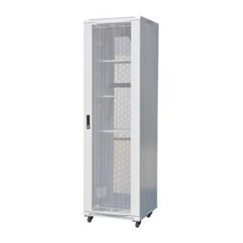 一舟(SHIP)C系列服务器网络机柜 单开平板六角前后网门(灰白色) SHIP-C6827