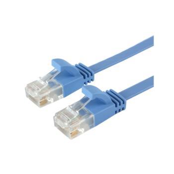 安讯仕(AXS)六类非屏蔽扁平网络跳线扁线 30米 蓝色