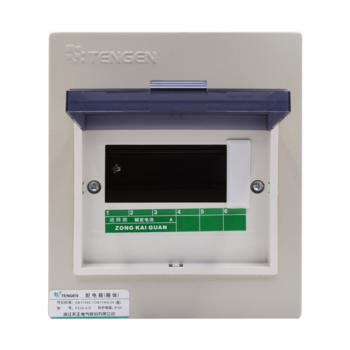 天正电气(TENGEN)暗装新型室内强电箱 6回路 06060071571 配电箱 PZ30-6