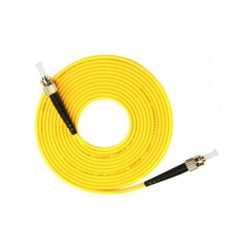 汤湖 TH-D115-10 ST-ST单模单芯 φ3.0 电信级光纤跳线 10米 黄色