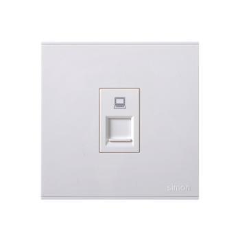 西蒙电气(SIMON)一位信息插座(白色) 725218