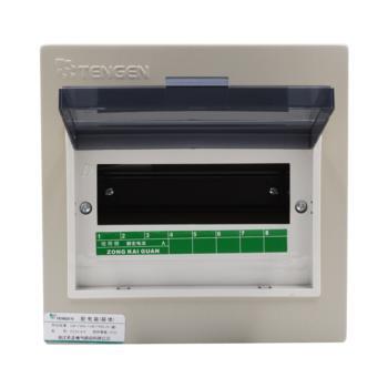 天正电气(TENGEN)暗装新型室内强电箱 8回路 06060071572 配电箱 PZ30-8