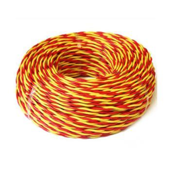 众城 RVS2*1.0 两芯双绞软电线 红黄 200m