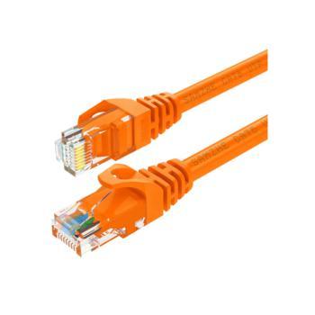 山泽(SHANZE) ORA-6005 六类非屏蔽网络跳线CAT6网线 橙色 0.5米