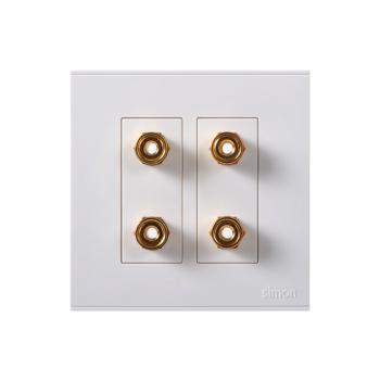 西蒙电气(SIMON)二位音箱插座(白色) 725402