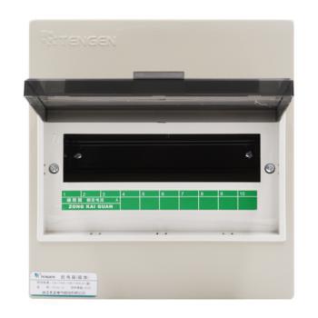 天正电气(TENGEN)明装新型室内强电箱 10回路 06060071585 配电箱 PZ30-10