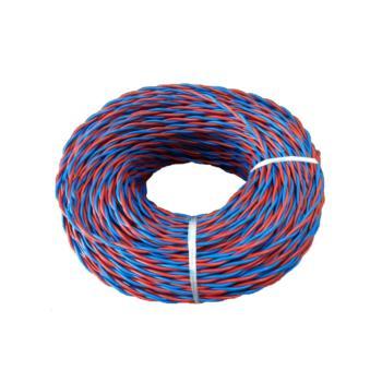 爱谱华顿(AIPU)NH-RVS2*1.0 两芯耐火双绞软电线 红蓝 200m/卷