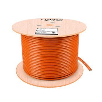 英科通 六类4对单屏蔽双绞线  YK611664 橙色 305米/轴