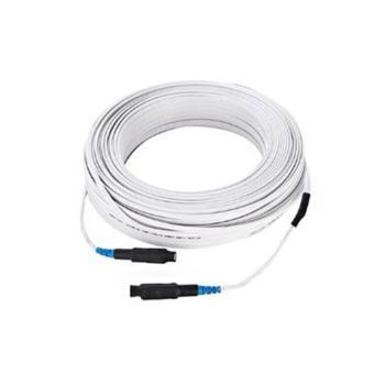 汉生 GJXFCH SC-SC/UPC室内型单芯单模预制成端蝶形皮线光缆黑色 50米 定制