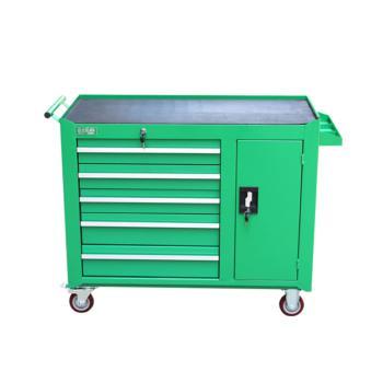 老A(LAOA)重型五层一门无挂板工具柜 绿色 017130095 LA115102