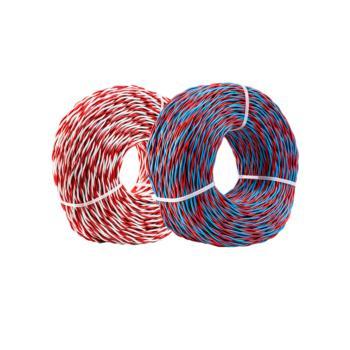 科友(Keyou) RVS 2*1.0 两芯对绞软电线 红蓝 200米/卷