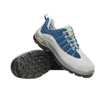 代尔塔(DELTAPLUS)彩虹系列S1P防砸防穿刺防静电透气安全鞋灰蓝色42 301322
