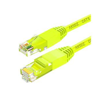 安讯仕(AXS)超五类非屏蔽UTP网络跳线圆线 5M 黄色