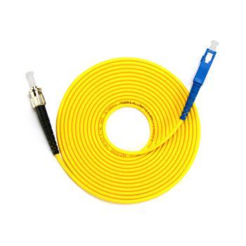 汤湖 TH-D112-30  SC-ST单模单芯 φ3.0 电信级光纤跳线 30米 黄色