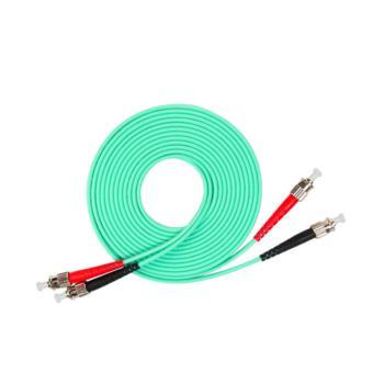 汤湖 TH-W115-30 ST-ST万兆多模双芯 φ3.0 电信级OM3光纤跳线 30米 水绿色