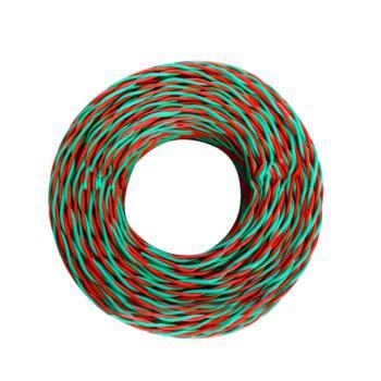爱谱华顿(AIPU)ZR-RVS2*1.5 两芯对绞阻燃软电线 红绿 500米/卷