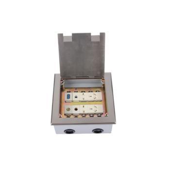 华工电气  不锈钢开启式地插二位五孔+电话+视频+话筒+VGA HGD-180Kbr