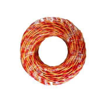 众城 RVS2×1.5 100m红黄两芯双绞软电线