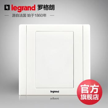 罗格朗开关 插座面板 美涵白色   空白面  墙壁电源  86型  美涵白色
