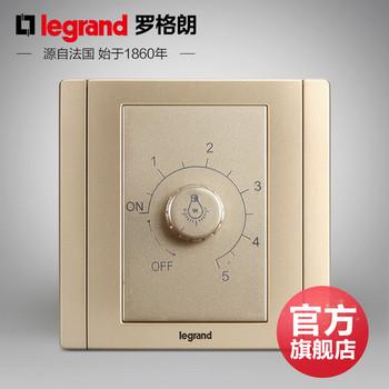 罗格朗开关 插座面板 美涵金色  调光开关旋钮  墙壁电源  86型  美涵金色