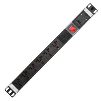 Gowone购旺 PDU机柜插座 工业插排 非常规接线板 工程插座 配线自接 6位防雷 16A万用孔 WD6 3米 国标16A插头