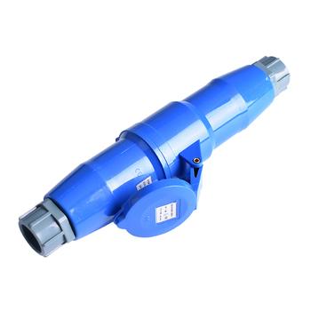 Gowone 购旺大功率工业插头插座耦合器 可移动炮筒式连接器 航空插头 单相3芯 32A公母一套